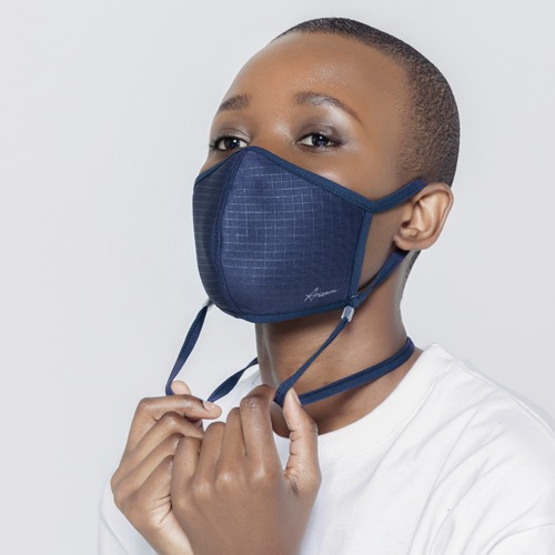 [ARISUM] All-In-One Mask - Navy Check
